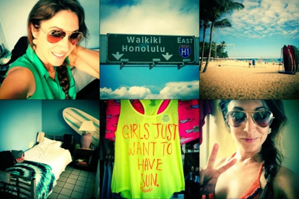 Hawaii, Girlslove2travel, viola welling, vi, Waikiki, surfing,