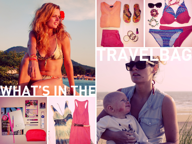 What's in the travel bag of... Tess