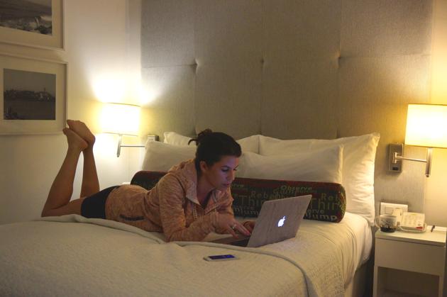 hotelkamer werken
