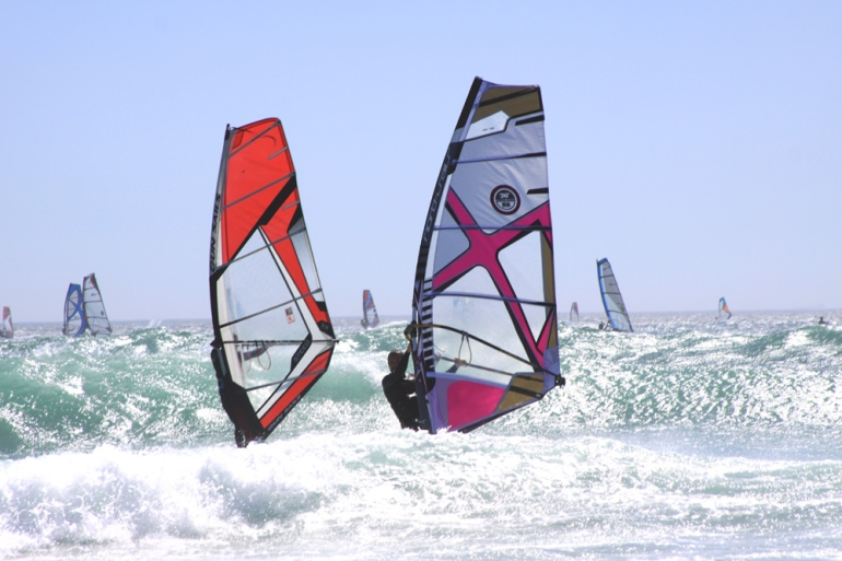 Windsurfen in Zuid Afrika