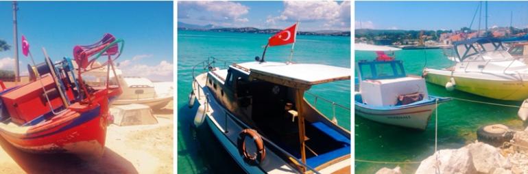 Bootjes en havens in Alacati, Cesme, Turkije